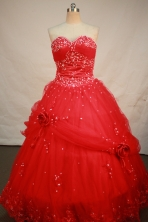 Sweet Ball gown Sweetheart Floor-length Quinceanera Dresses Sequins Style FA-Y-0069