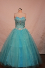 Sweet Ball gown Sweetheart-neck Floor-length Quinceanera Dresses Style FA-C-101