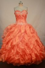 Sweet Ball gown Sweetheart-neck Floor-length Quinceanera Dresses Style FA-C-114