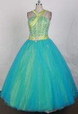 2012 Pretty Ball Gown Halter Top Neck Floor-Length Quinceanera Dresses Style JP42626