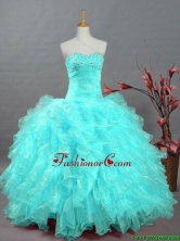2015 Fall Pretty Sweetheart Beaded Quinceanera Prom Dresses in Organza SWQD002-8FOR