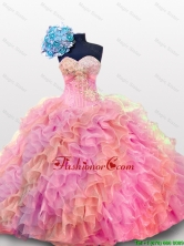 2015 Perfect Sweetheart Quinceanera Prom Dresses with Sequins and Ruffles SWQD012-5FOR