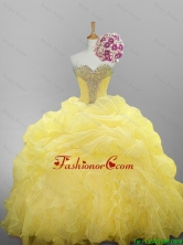 2015 Pretty Sweetheart Beaded Quinceanera Prom Dresses with Ruffled Layers SWQD014-4FOR