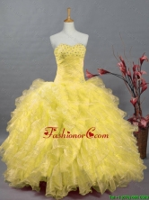 2016 Fall Elegant Beaded and Ruffles Quinceanera Prom Dresses in Organza SWQD002-3FOR