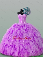 2016 Summer Beautiful Sweetheart Beaded Quinceanera Gowns in Organza SWQD015-5FOR