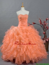 2016 Summer Beautiful Sweetheart Quinceanera Prom Dresses with Beading and Ruffles SWQD002-2FOR