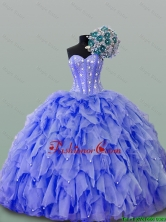 2016 Summer Perfect Quinceanera Dresses with Beading and Ruffles SWQD015-3FOR