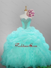 2016 Summer Top Seller Sweetheart Beaded Quinceanera Prom Dresses with Ruffled Layers SWQD014-9FOR