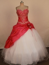 Affordable Ball Gown Sweetheart Neck Floor-Length Quinceanera Dresses Style X042449