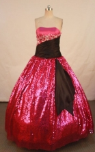 Affordable Ball gown Strapless Floor-length Quinceanera Dresses Style FA-W-301