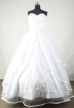 Brand New Ball Gown Sweetheart Floor-length White Beading Quinceanera dress Style FA-L-027