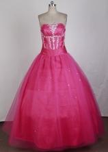 Elegant Ball Gown Strapless Floor-length Quinceanera Dress LZ426015