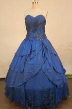 Elegant Ball Gown Strapless Floor-length Quinceanera Dresses Appliques Style FA-Z-0210