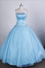 Elegant Ball gown Strapless Floor-length Quinceanera Dresses Style FA-C-71