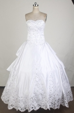 Exclusive Ball Gown Sweetheart Neck Floor-length White Quinceanera Dress LZ426017