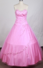 Exquisite Ball Gown Sweetheart Neck Floor-length Baby Pink Quinceanera Dress LZ426006