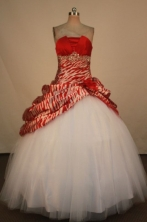 Fashionable Ball Gown Strapless Floor-Length Quinceanera Dresses Style X042457