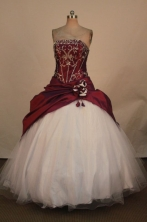 Fashionable Ball Gown Strapless Floor-Length Quinceanera Dresses Style X042449