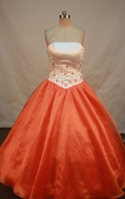 Inexpensive Ball gown Strapless Floor-Length Quinceanera Dresses Style FA-Y-118