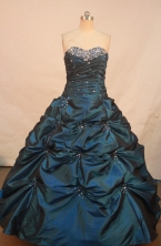 Inexpensive Ball gown Sweetheart neck Floor-Length Quinceanera Dresses Style FA-Y-170