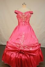 Luxurious Ball Gown Off The Shoulder Neckline Floor-Length Spring Hot Pink Quinceanera Dress LJ42449