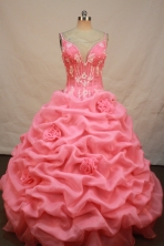 Luxurious Ball gown Straps Floor-length Quinceanera Dresses Appliques Style FA-Y-0087