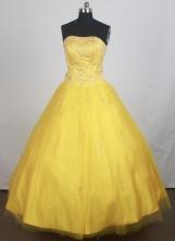 Modest A-line Strapless Floor-length Quinceanera Dress ZQ12426046