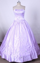 Modest Ball Gown Strapless FLoor-Length Quinceanera Dresses Style X042429
