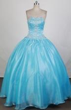 Modest Ball Gown Strapless Floor-length Quinceanera Dress ZQ12426027