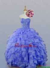 New Arrival 2016 Summer Sweetheart Beaded Quinceanera Prom Dresses with Ruffles SWQD007-3FOR
