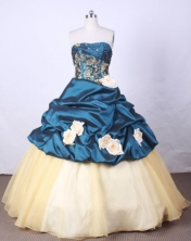 New Arrival Ball Gown Strapless FLoor-Length Quinceanera Dresses Style X042428
