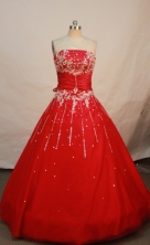 Popular Ball gown Strapless Floor-length Quinceanera Dresses Style FA-W-238