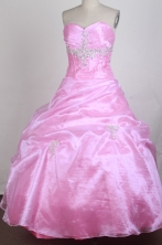 Pretty Ball Gown Sweetheart Floor-length Quinceanera Dress ZQ12426036