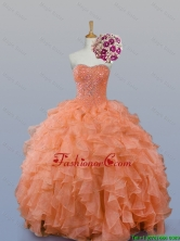 Pretty Sweetheart Beaded Quinceanera Gowns in Organza for 2015 Fall SWQD007-7FOR