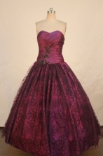 Romantic Ball gown Strapless Floor-length Quinceanera Dresses Style FA-W-351