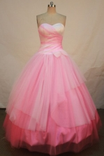 Simple A-line SweetheartFloor-length Quinceanera Dresses Beading Style FA-Z-0250