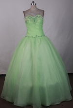 Simple Ball Gown Strapless Floor-length Green Quinceanera Dress LJ2628