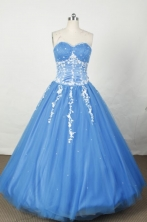 Sweet Ball Gown Sweetheart Floor-length Organza Embroidery Quinceanera dress Style FA-L-042