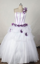 Wonderful Ball gown One shoulder Floor-length Quinceanera Dresses Style FA-W-355
