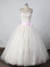 Wonderful Ball gown Strapless Floor-length Quinceanera Dresses Style FA-W-384