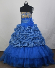 2012 Popular Ball Gown Strapless Floor-Length Quinceanera Dresses Style JP42656