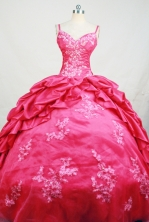 Affordable Ball Gown Straps Floor-Length Hot Pink Beading and Appliques Quinceanera Dresses Style FA-S-163
