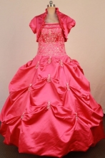 Brand New Ball Gown Strapless Floor-Length Quinceanera Dresses Style LZ42488
