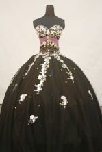 Brand New Ball Gown Sweetheart Neck Floor-Length Brown Appliques and Beading Quinceanera Dresses Style FA-S-146