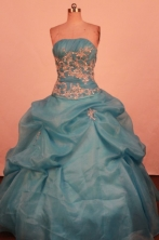 Classical Ball Gown Strapless Floor-Length Quinceanera Dresses Style LZ42485