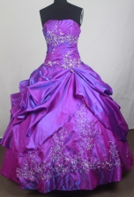 Classical Ball Gown Strapless Floor-length Quinceanera Dress LZ426055