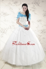 Discount White Quinceanera Dresses with Appliques XFNAO146AFOR