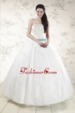 Discount White Quinceanera Dresses with Appliques XFNAO146FOR