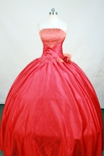 Exquisite Ball Gown Strapless Floor-Length Hot Pink Beading Quinceanera Dresses Style FA-S-157