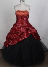 Gorgeous A-line Strapless Floor-length Quinceanera Dress ZQ12426043